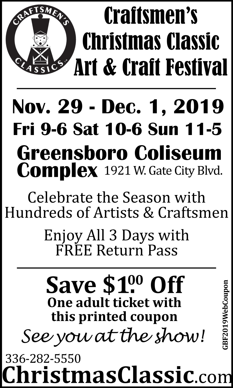 Craftsman Christmas Classic 2020 Gilmore Shows